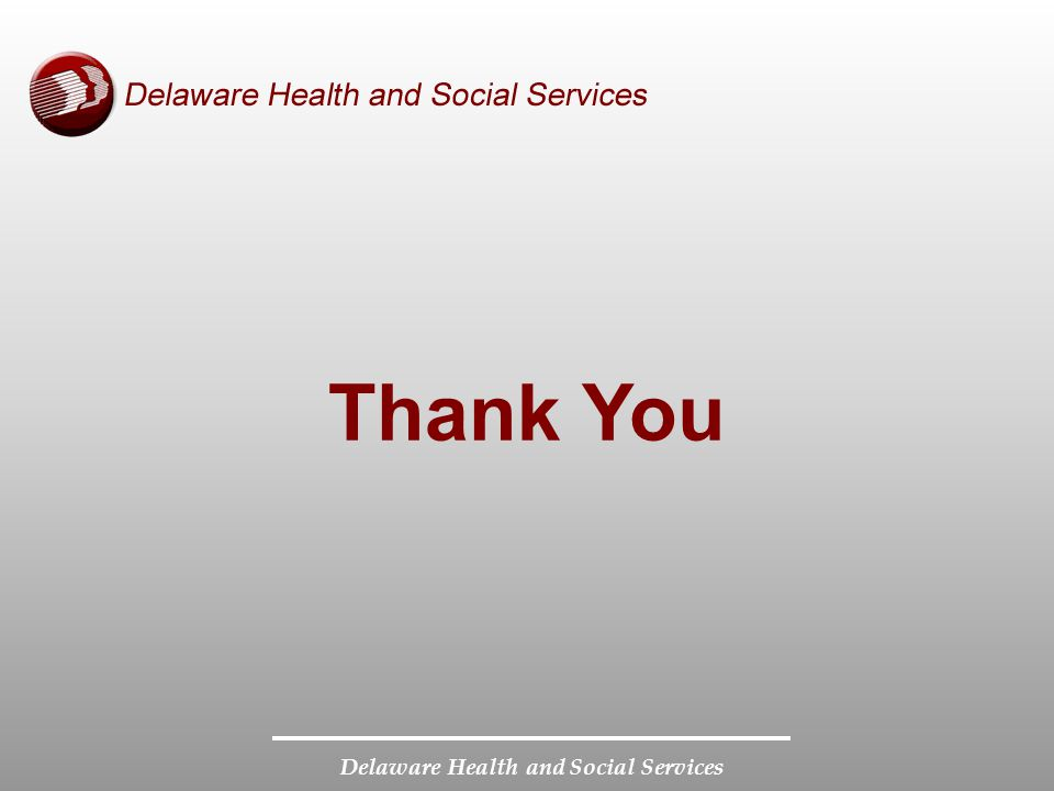 Delaware Health and Social Services Thank You