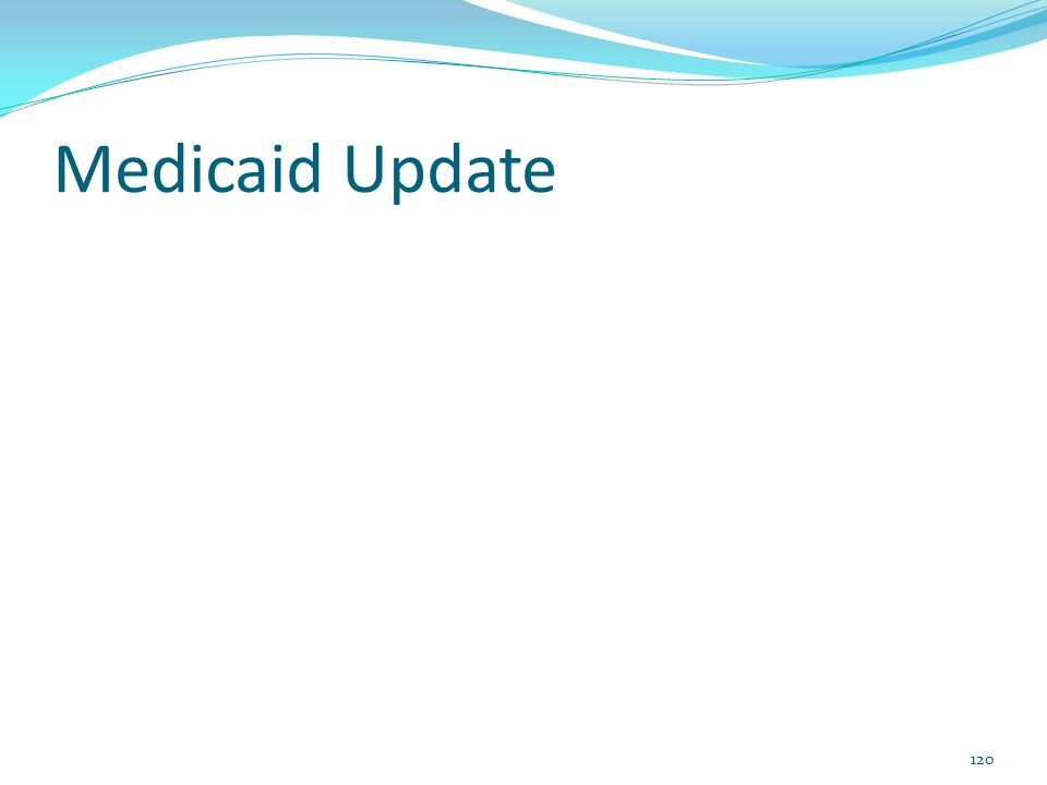 Medicaid Update 120