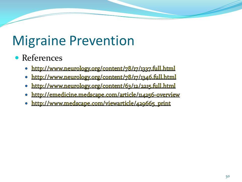 Migraine Prevention 50