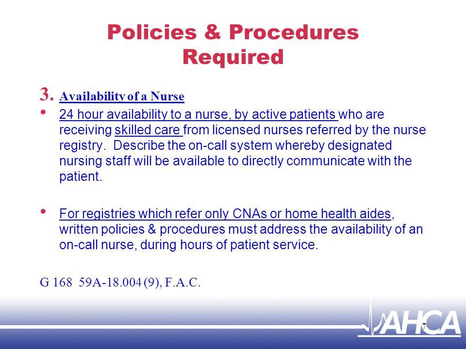 Policies & Procedures 4.