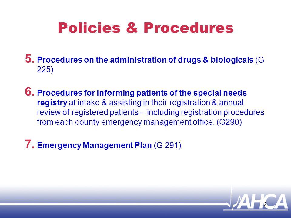 Policies & Procedures 8.