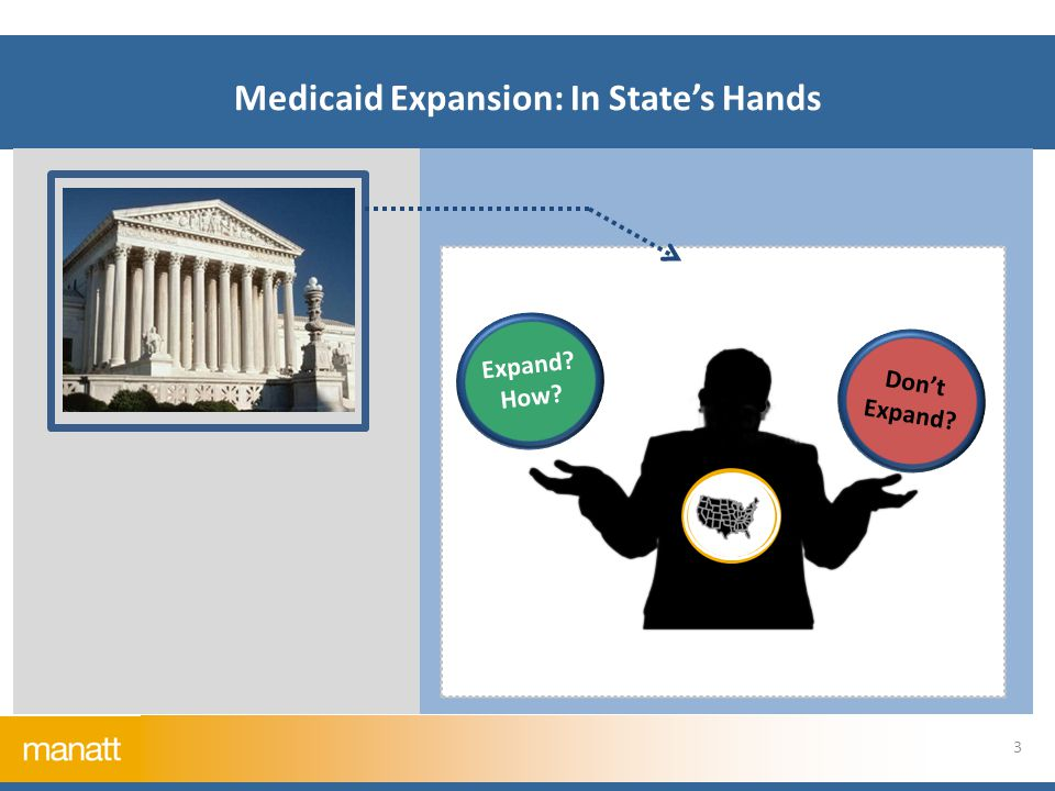 Medicaid Expansion: In State's Hands 3 Expand How Don't Expand