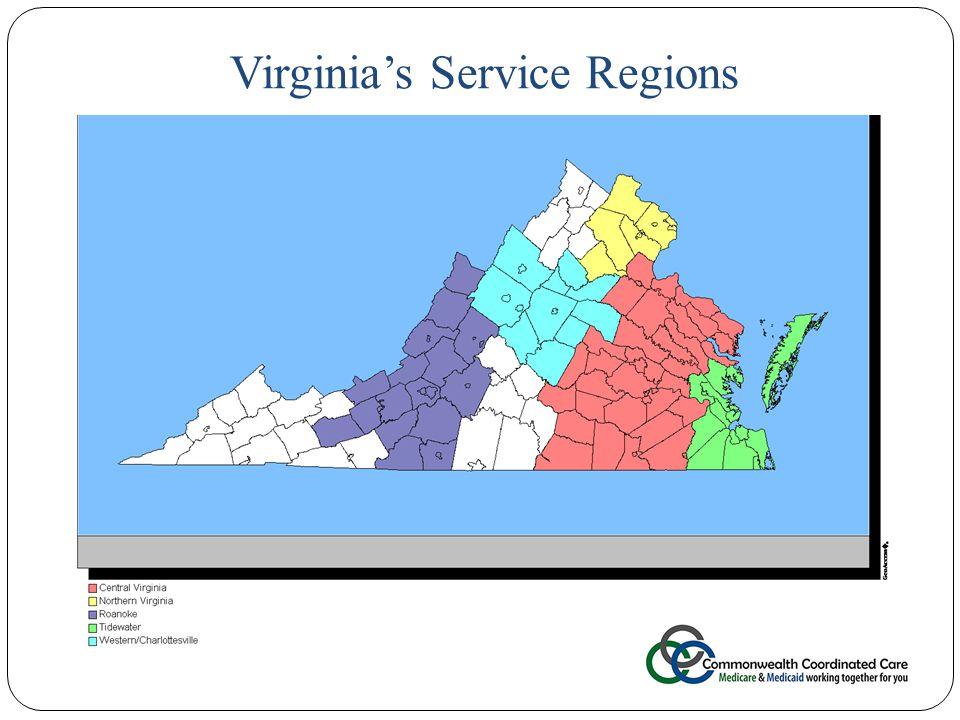 17 Virginia's Service Regions