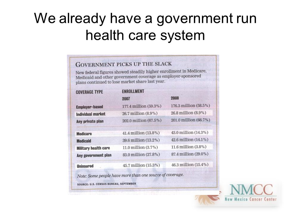 We already have a government run health care system