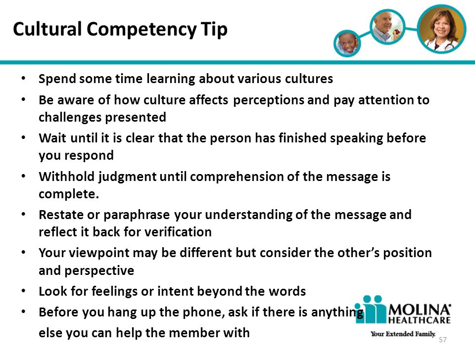 Headline Goes Here Item 1 Item 2 Item 3 Cultural Competency Tip Spend some time learning about various cultures Be aware of how culture affects percep