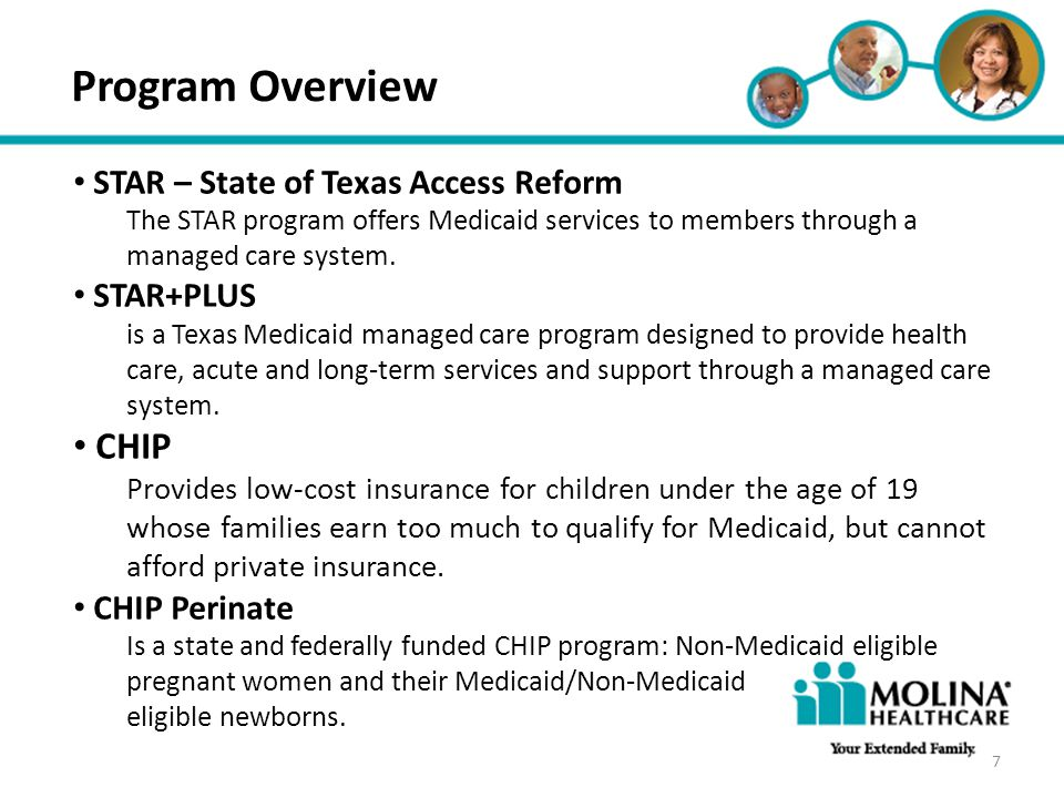 Headline Goes Here Item 1 Item 2 Item 3 Program Overview STAR – State of Texas Access Reform The STAR program offers Medicaid services to members thro
