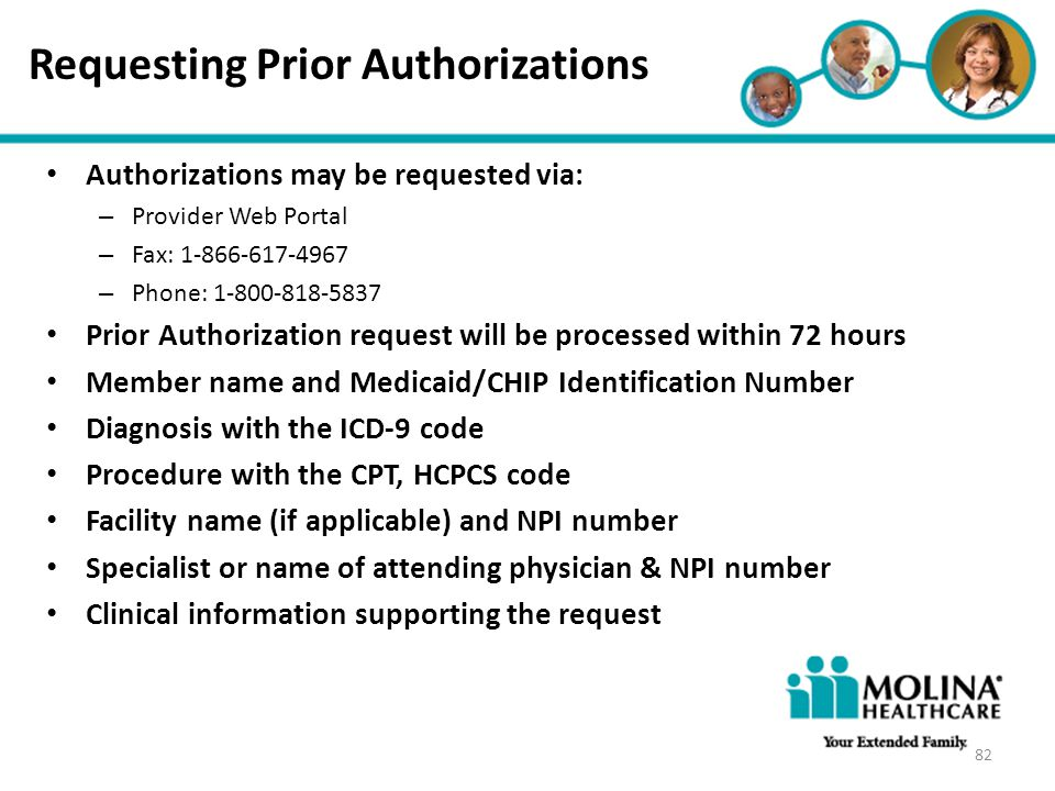 Headline Goes Here Item 1 Item 2 Item 3 Requesting Prior Authorizations Authorizations may be requested via: – Provider Web Portal – Fax: 1-866-617-49