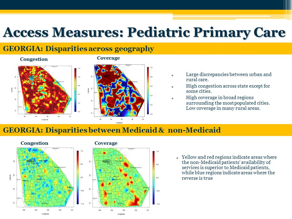 o Large discrepancies between urban and rural care.