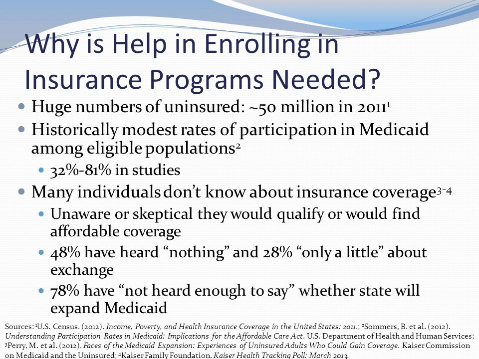 Types of Consumer Assistance Consumer assistance programs Navigators In-Person Assisters Certified Application Counselors Exchange/Marketplace Medicaid Champion for Coverage