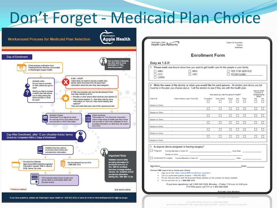 Don't Forget - Medicaid Plan Choice 28