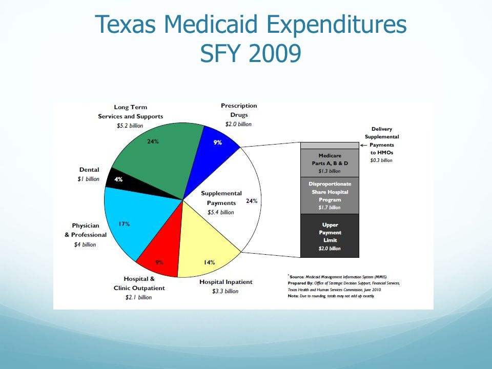 Texas Medicaid Expenditures SFY 2009
