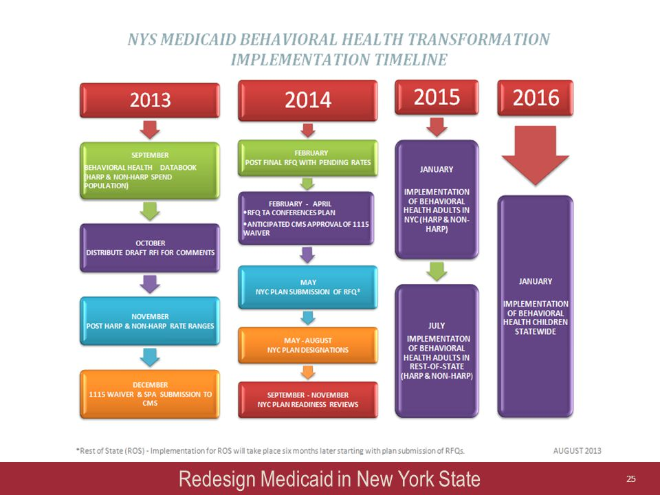 Redesign Medicaid in New York State 25