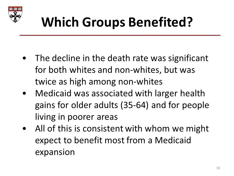Which Groups Benefited.