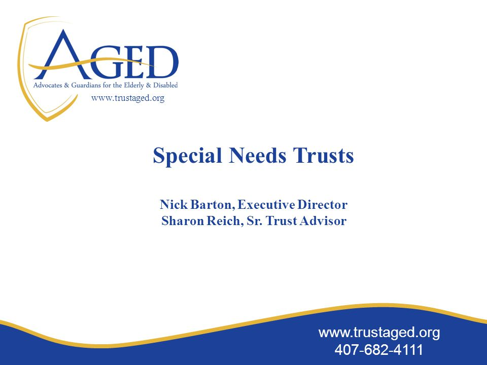 www.trustaged.org 407-682-4111 www.trustaged.org Examples of asset allocation models