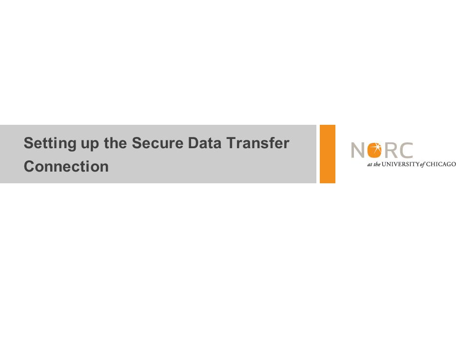 Setting up the Secure Data Transfer Connection
