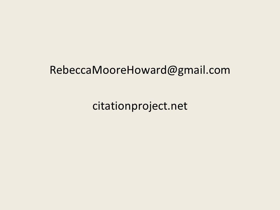 RebeccaMooreHoward@gmail.com citationproject.net