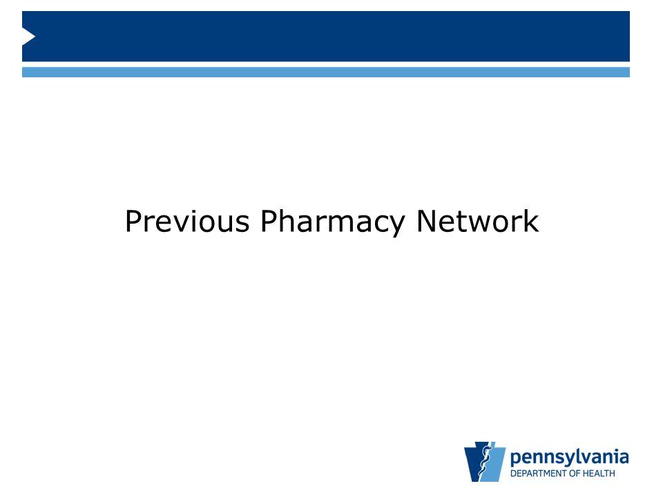 Previous Pharmacy Network