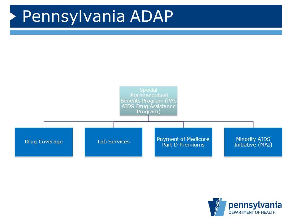 Pennsylvania ADAP Special Pharmaceutical Benefits Program (PA's AIDS Drug Assistance Program) Drug CoverageLab Services Payment of Medicare Part D Pre