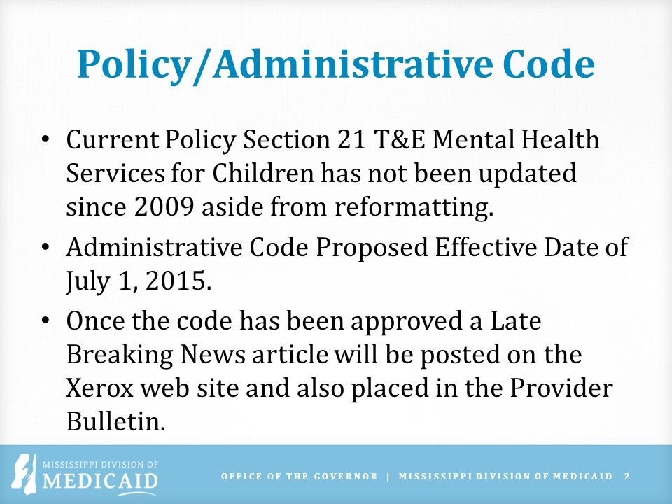 What Will Stay the Same Population – T&E services are for children under the age of 21.