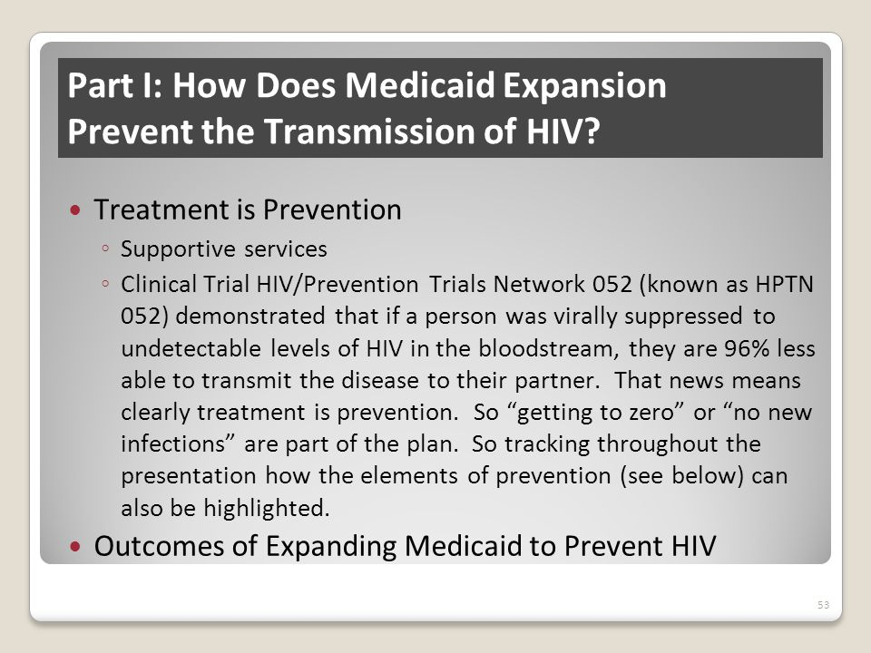 Part I: How Does Medicaid Expansion Prevent the Transmission of HIV.