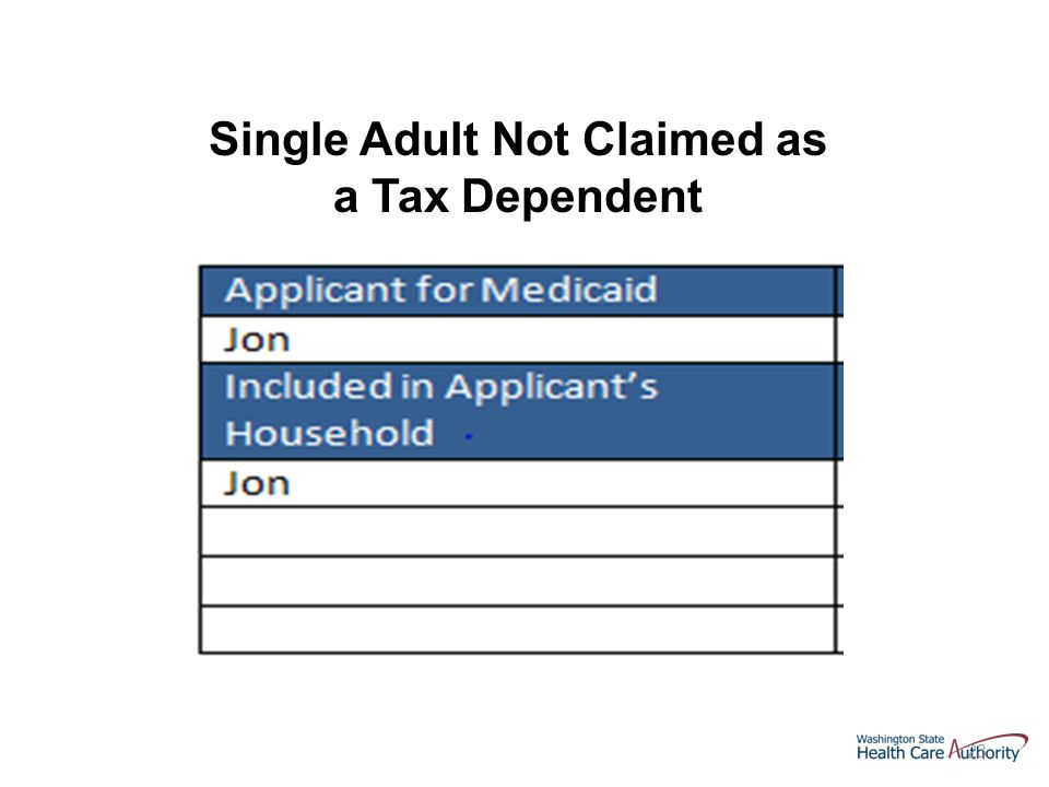 23 Single Adult Not Claimed as a Tax Dependent