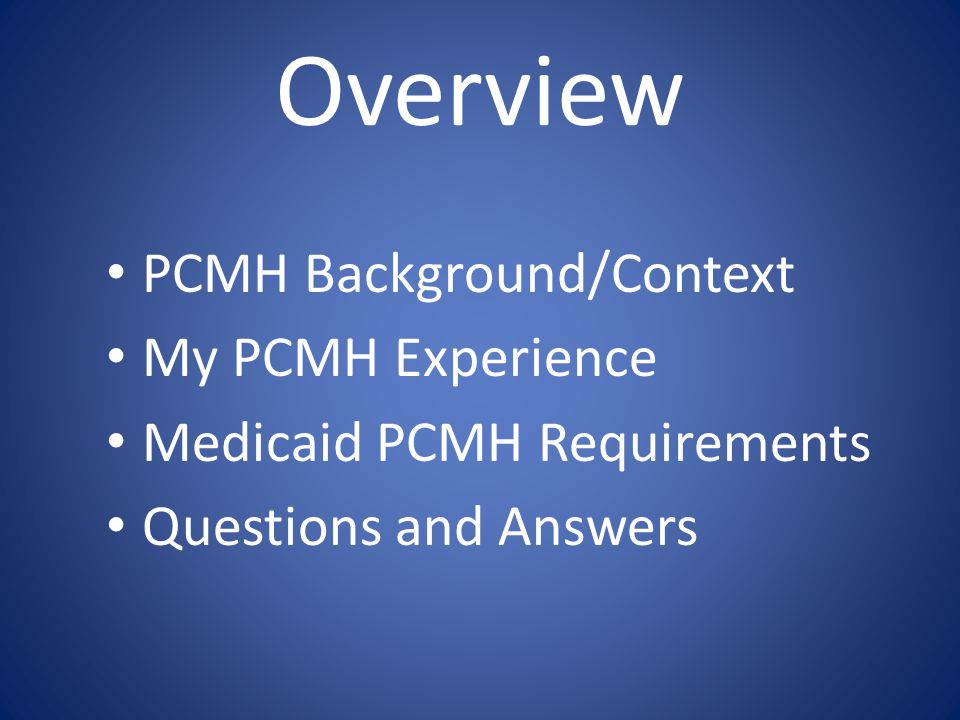 Alternative Titles Practical PCMH DIY PCMH PCMH for the workin' doc PCMH: Yeah, right.