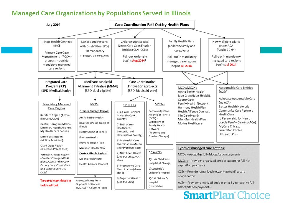 Managed Care Organizations by Populations Served in Illinois
