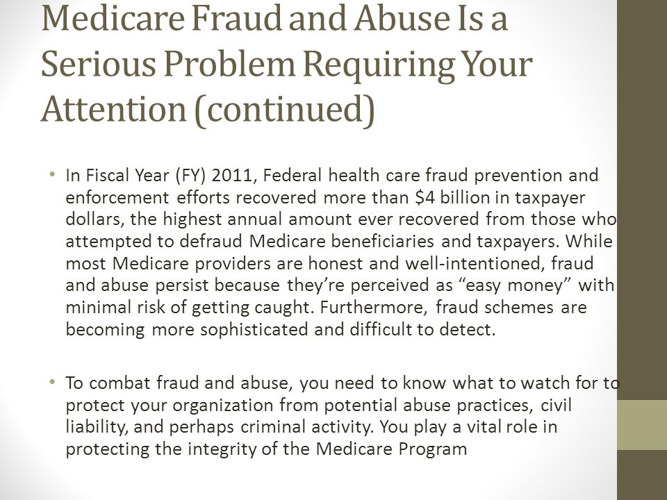 Definition of Health Care Fraud In general, fraud is defined as making false statements or representations of material facts to obtain some benefit or payment for which no entitlement would otherwise exist.