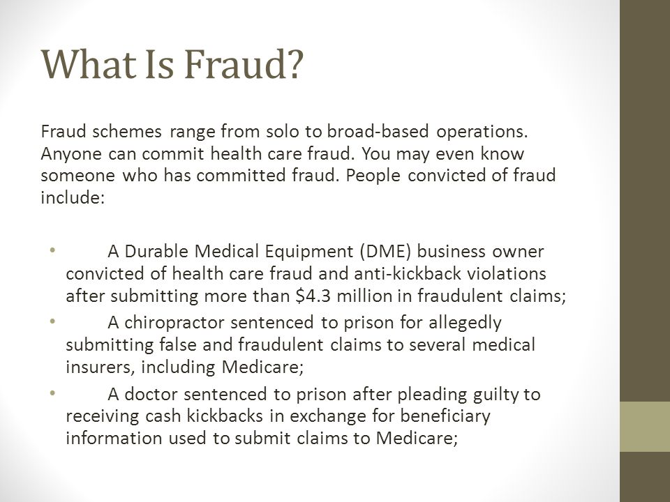 What is Fraud.