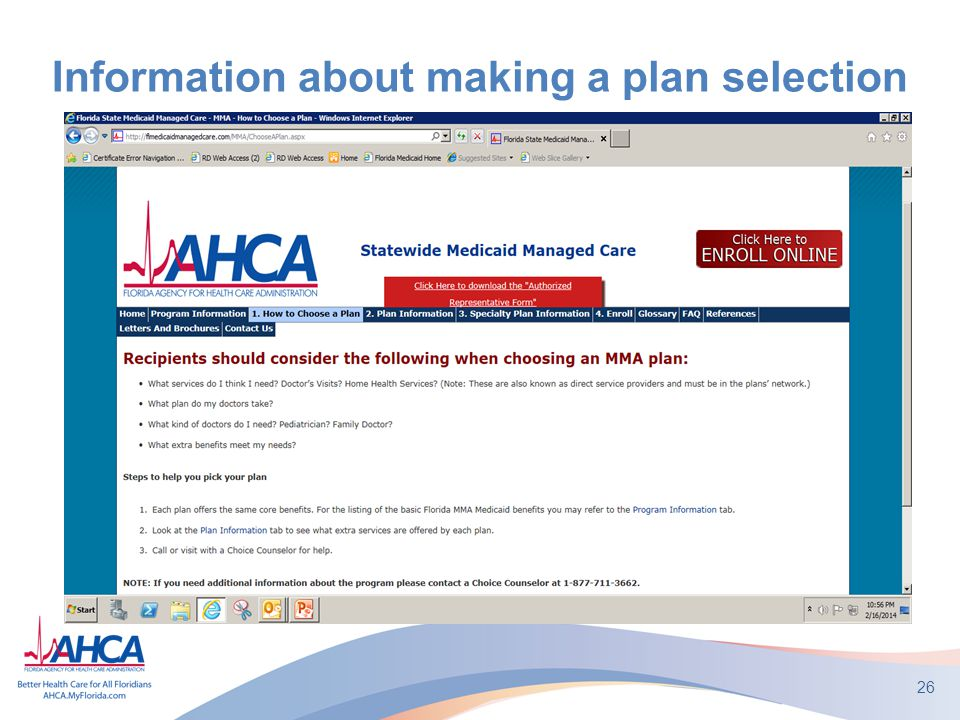 Information about making a plan selection 26