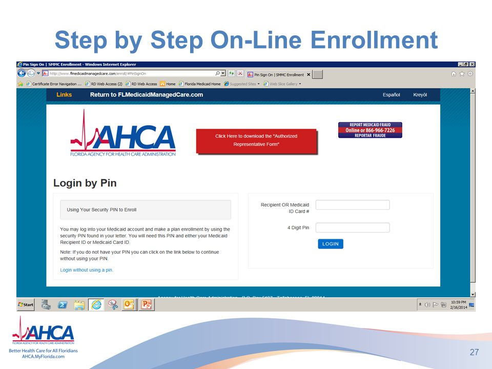 Step by Step On-Line Enrollment 27