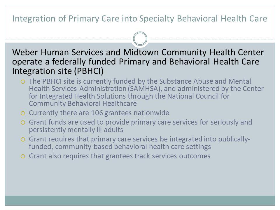 Outcomes: Behavioral Health