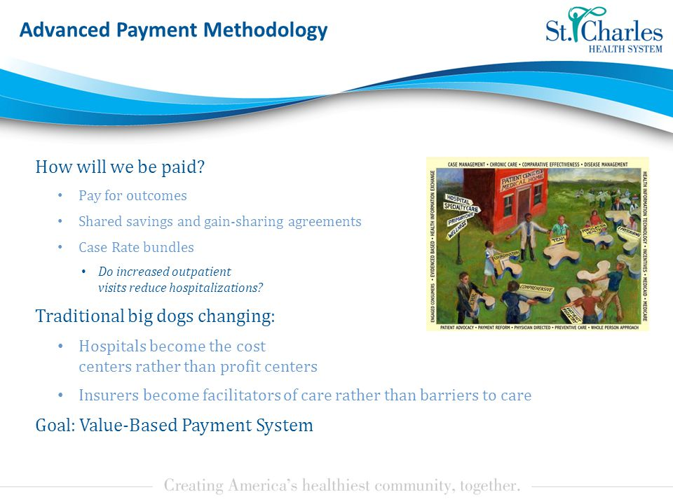 Advanced Payment Methodology How will we be paid.