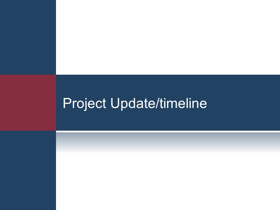 Project Update/timeline