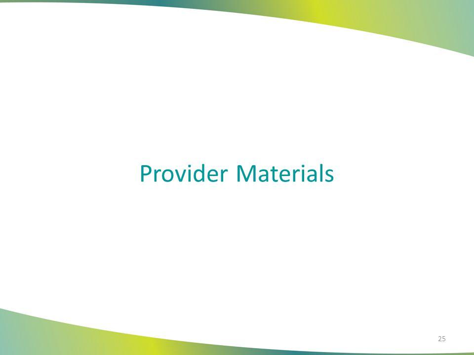 Provider Materials 25
