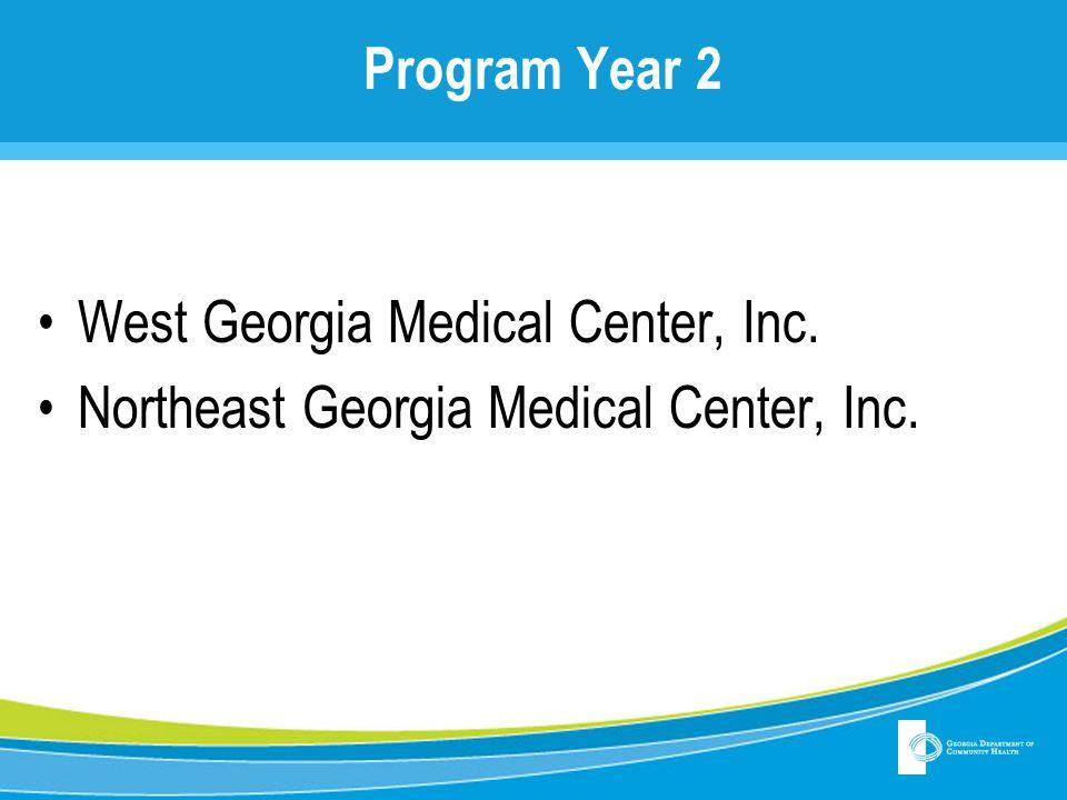 Program Year 2 West Georgia Medical Center, Inc. Northeast Georgia Medical Center, Inc.