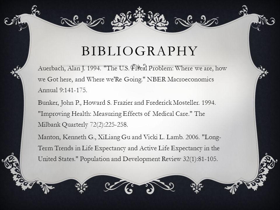 BIBLIOGRAPHY Auerbach, Alan J. 1994. The U.S.