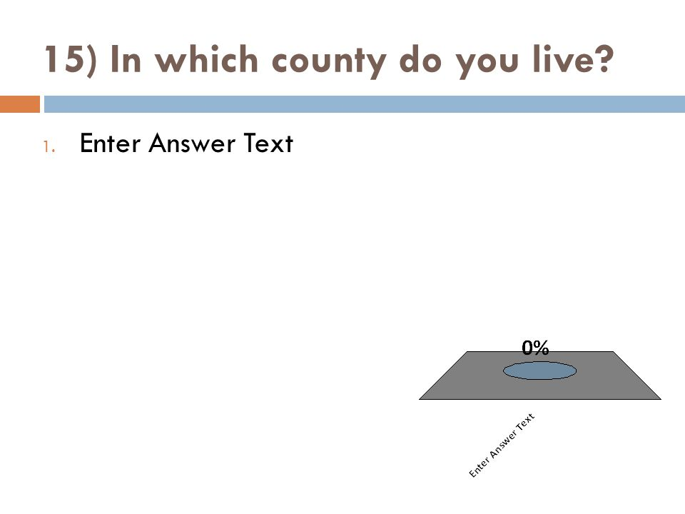 15) In which county do you live 1. Enter Answer Text