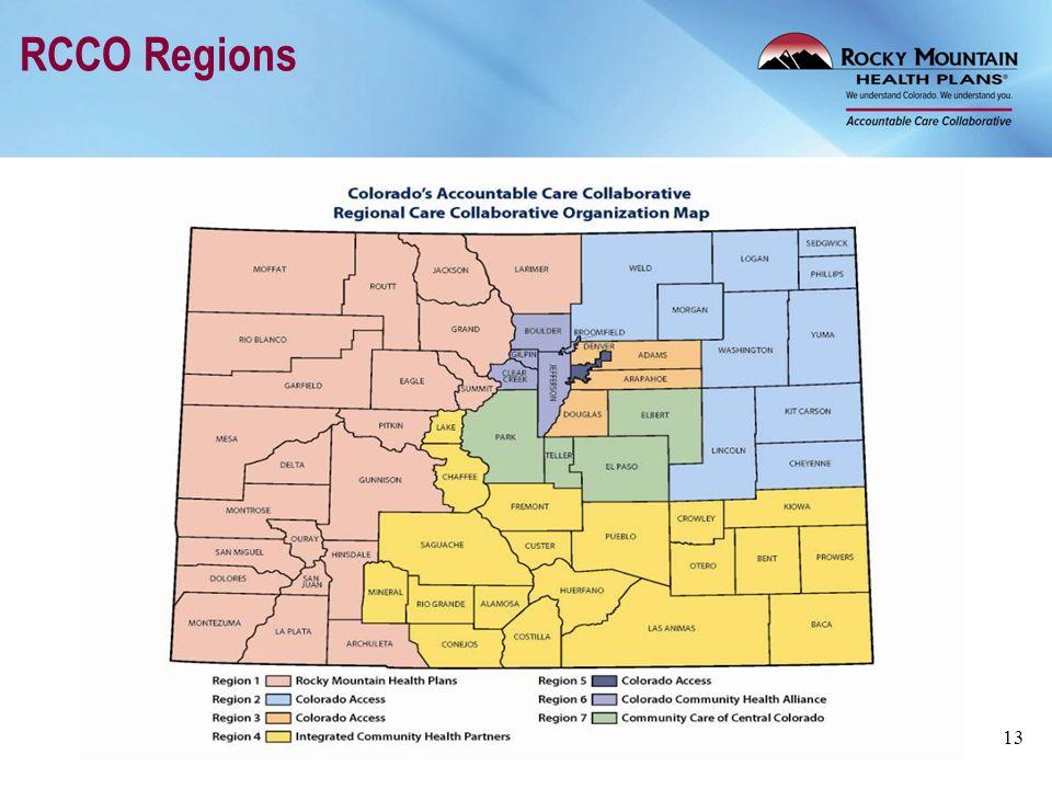 RCCO Regions 13