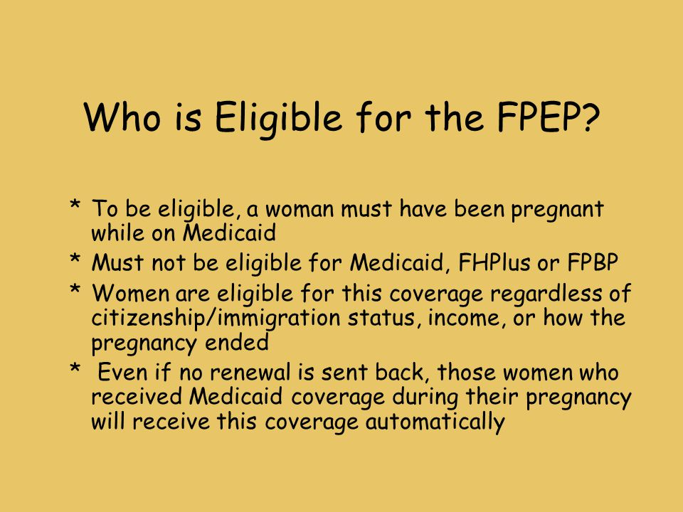 Who is Eligible for the FPEP.