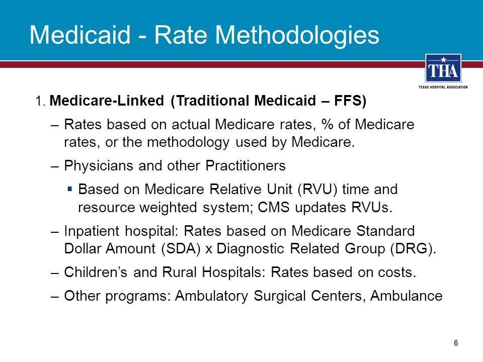 Medicaid - Rate Methodologies 1.