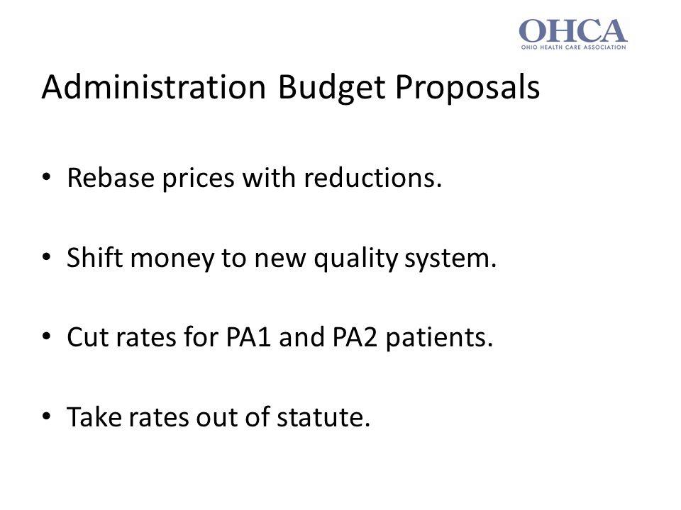Impact of Proposals Rebasing = 0 Quality = $8-13 million PA1/PA2 = ($23 million) Total = ($10-15 million)