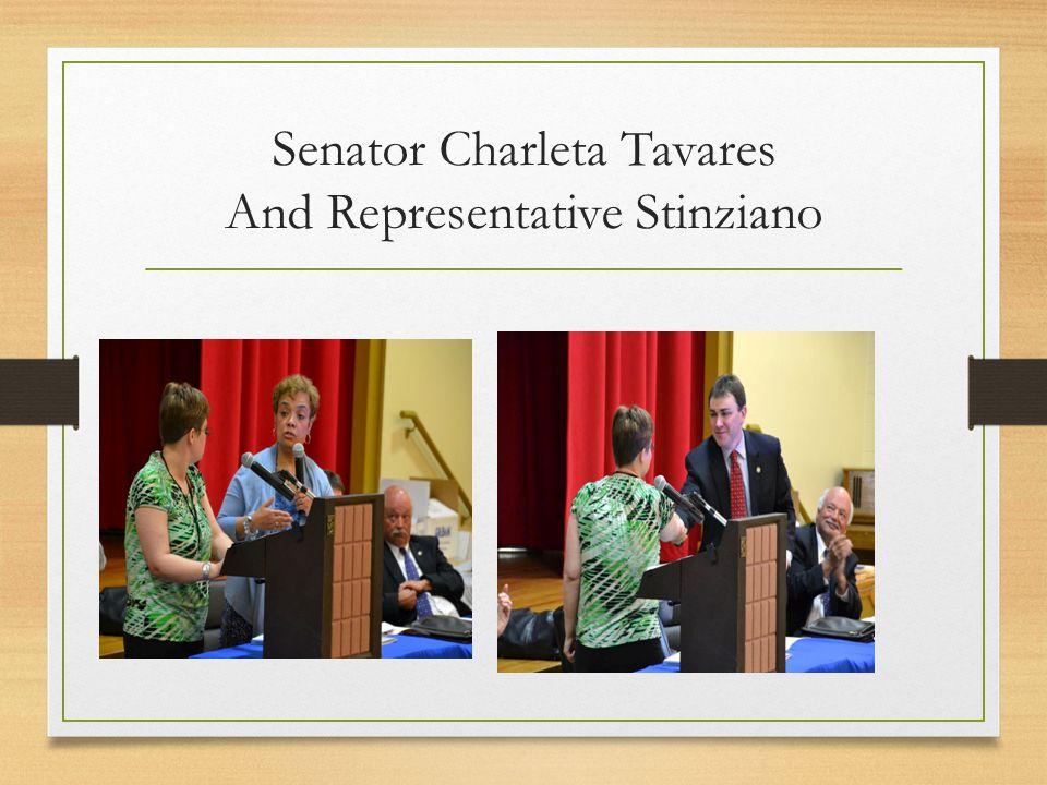 Senator Charleta Tavares And Representative Stinziano