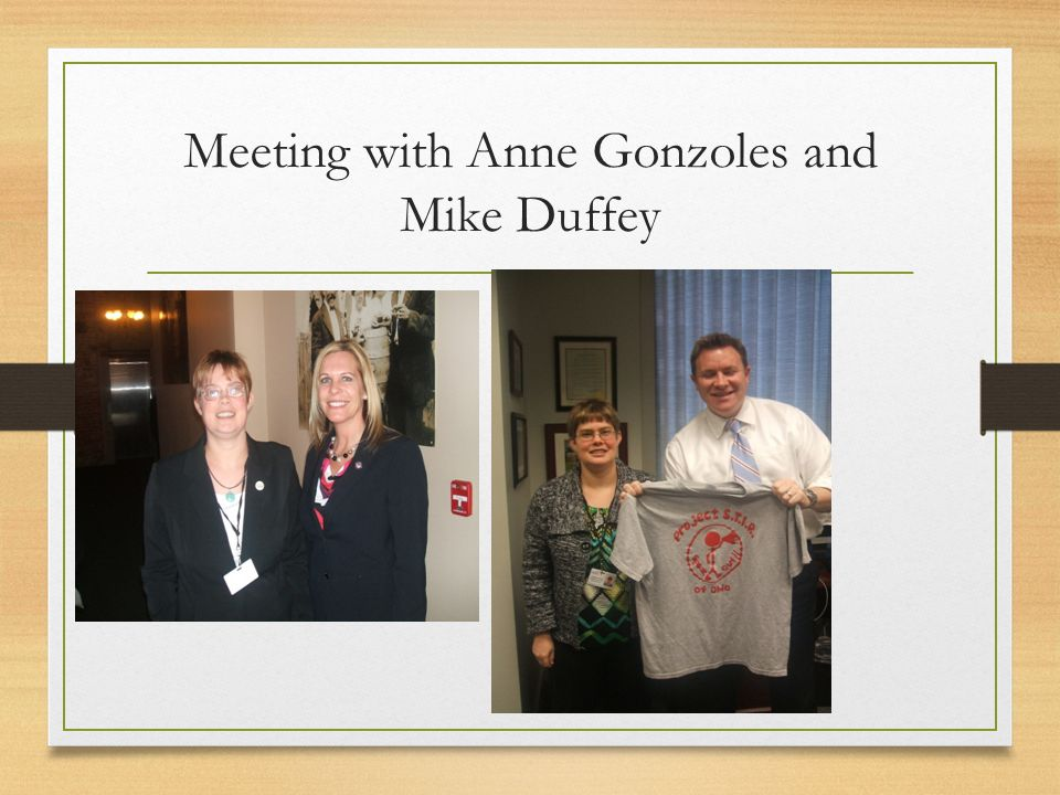 Meeting with Anne Gonzoles and Mike Duffey