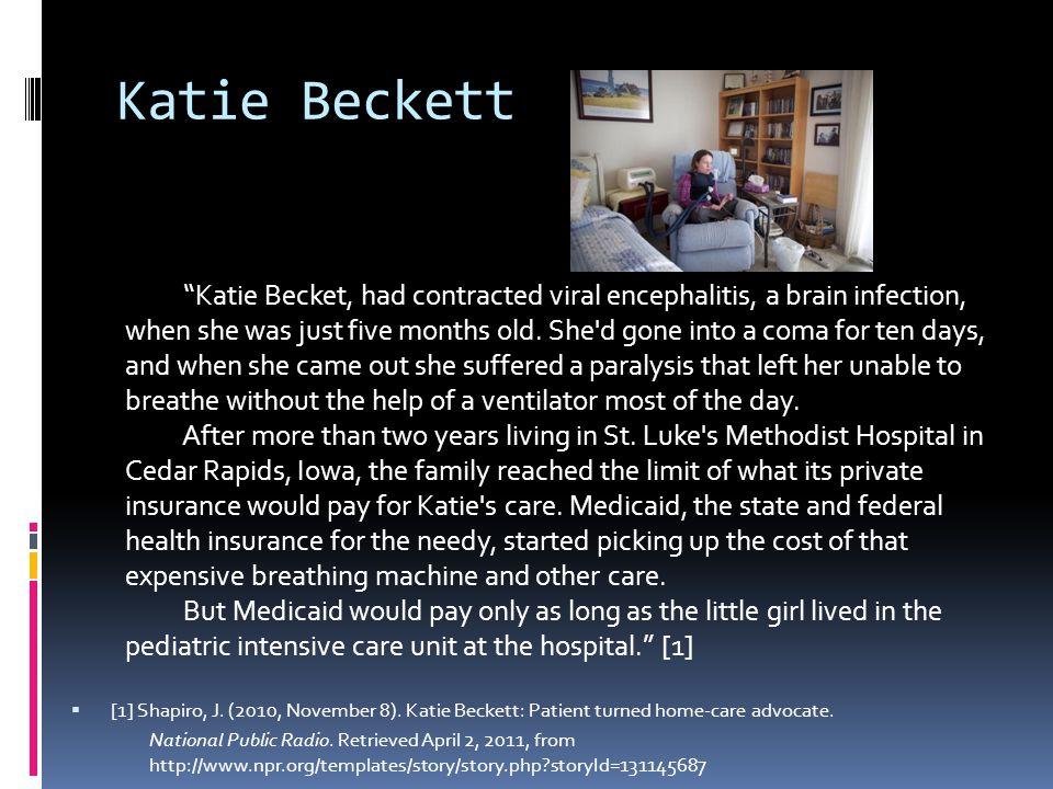 Katie Beckett  [1] Shapiro, J. (2010, November 8).