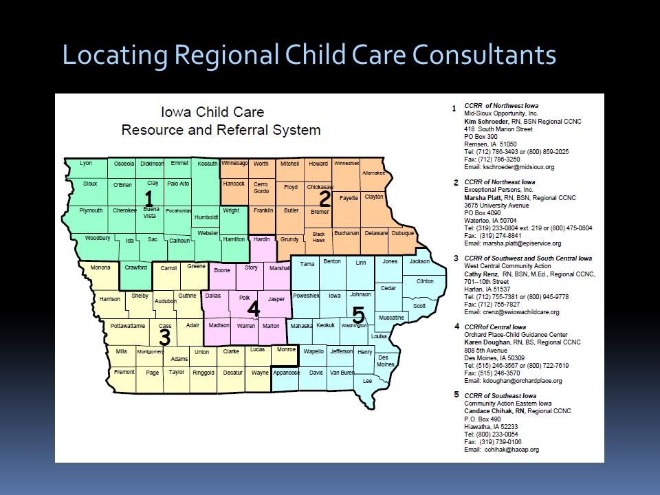 Locating Regional Child Care Consultants