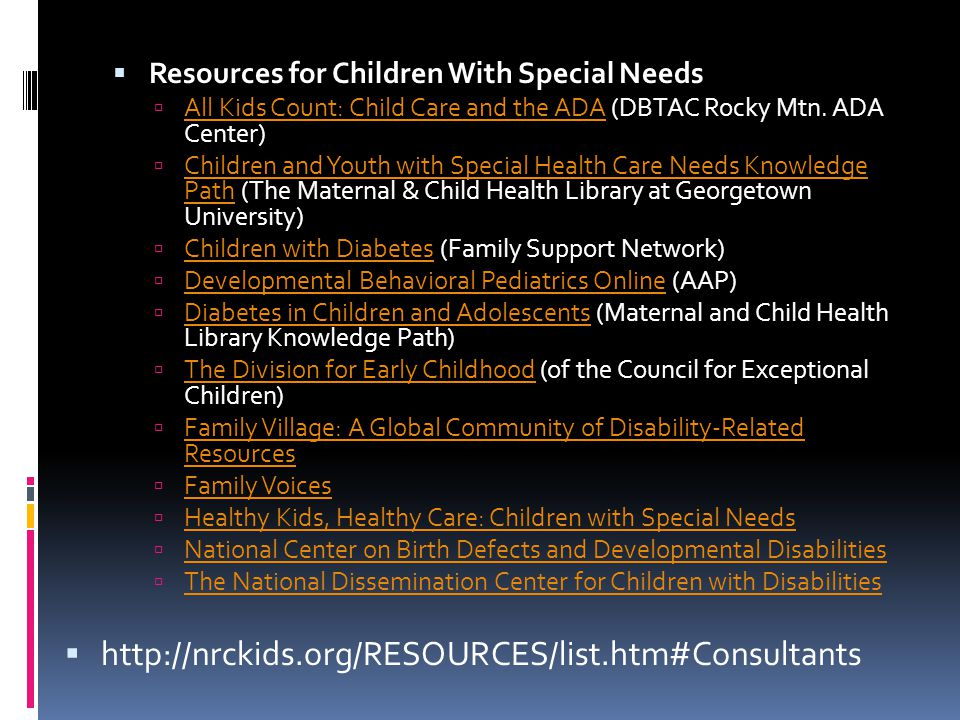  Resources for Children With Special Needs  All Kids Count: Child Care and the ADA (DBTAC Rocky Mtn.