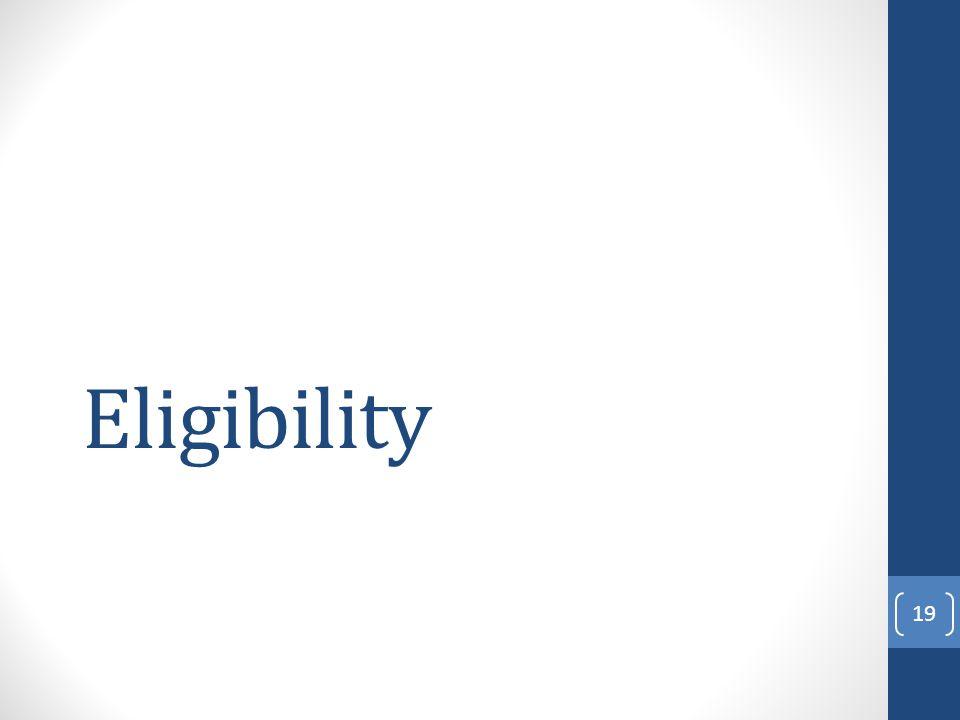 Eligibility 19