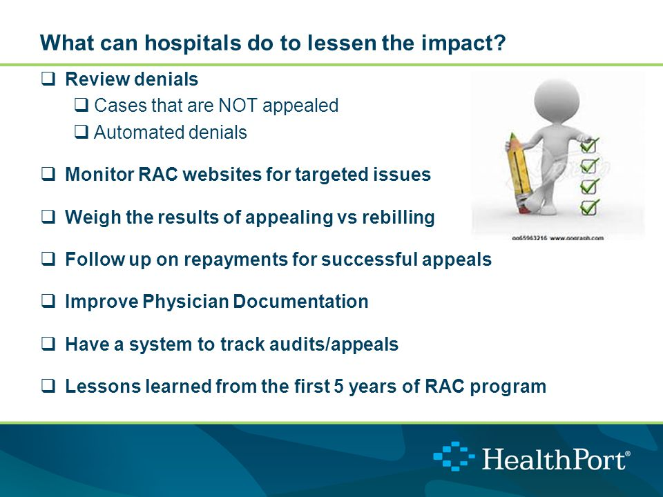 What can hospitals do to lessen the impact.