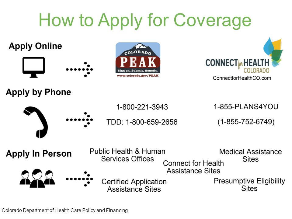 How to Apply for Coverage Colorado Department of Health Care Policy and Financing